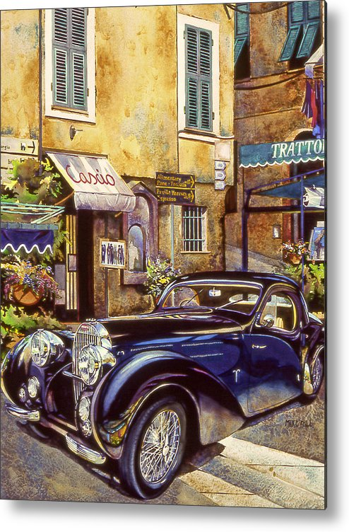 Bugatti 1939 Concours D Metal Print featuring the painting Bugatti by Mike Hill