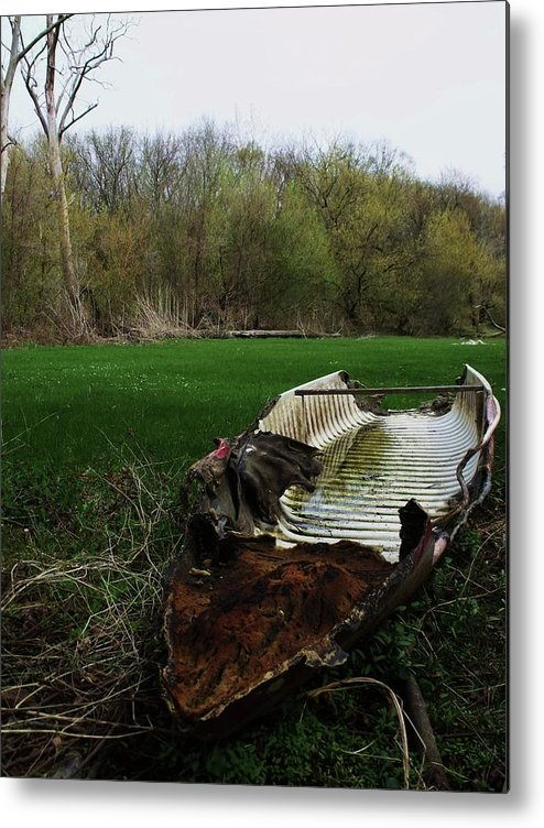 Boat Metal Print featuring the photograph Burnt Out Boat by Anna Villarreal Garbis