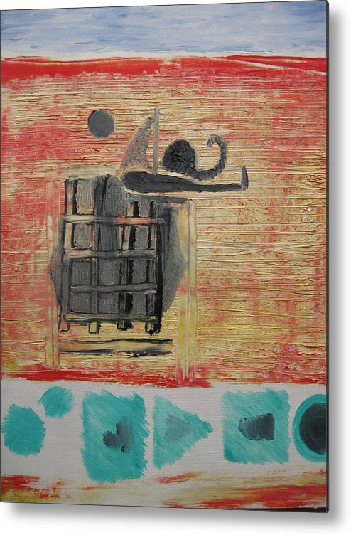 Modern Art Metal Print featuring the painting Caged by Antonio Raul