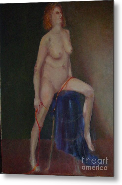 Figure Metal Print featuring the painting Caitlin Copyrighted  by Kathleen Hoekstra
