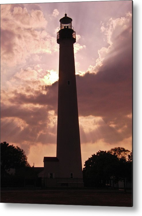 2010 Metal Print featuring the photograph Cape May Lighthouse by Ruthanne McCann