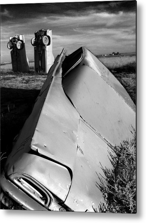 Carhenge Metal Print featuring the photograph Carhenge by Todd Fox