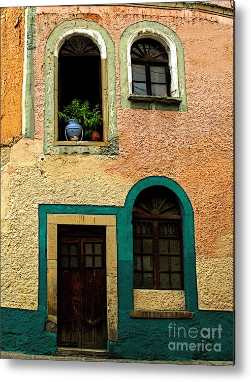 Darian Day Metal Print featuring the photograph Casa With Sea Green by Mexicolors Art Photography