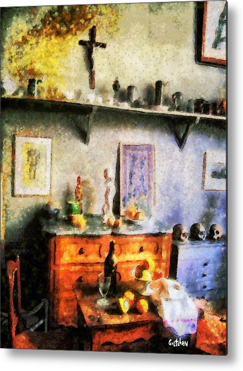 Cezanne Metal Print featuring the photograph Cezanne's Studio by PhotoArt By Gretchen