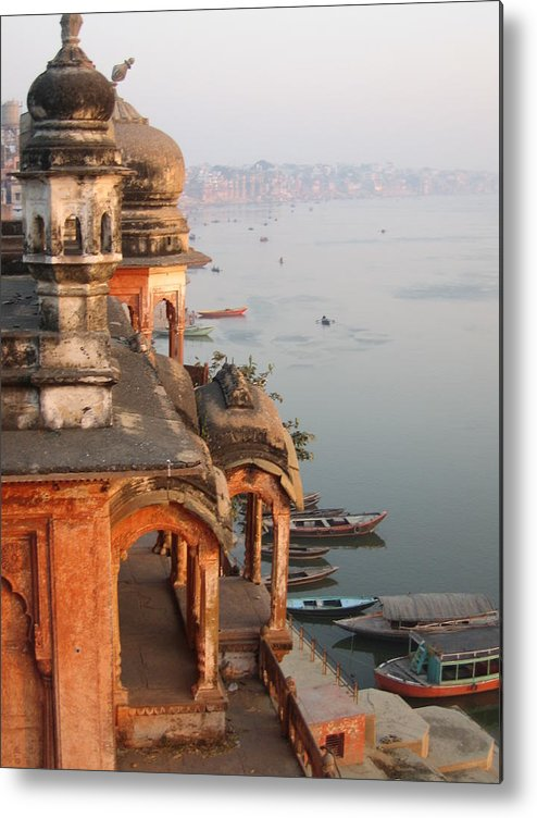 Chet Singh Metal Print featuring the photograph Chet Singh Fort by Art Nomad Sandra Hansen