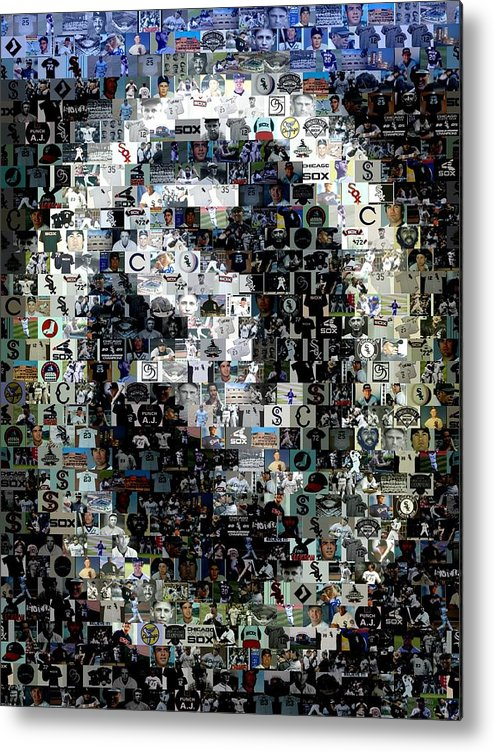 Chicago Metal Print featuring the digital art Chicago White Sox Ring Mosaic by Paul Van Scott