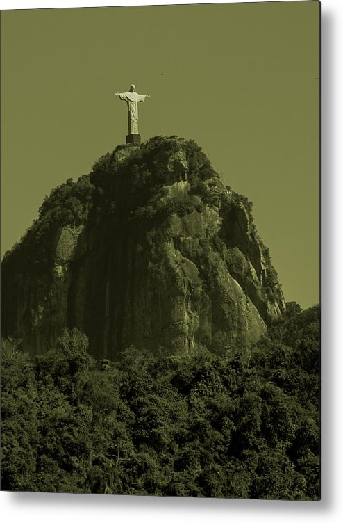 Interiors Metal Print featuring the photograph Christ The Redeemer by Fabio Sola