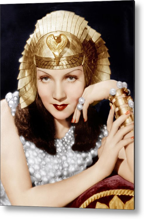 1930s Movies Metal Print featuring the photograph Cleopatra, Claudette Colbert, 1934 by Everett