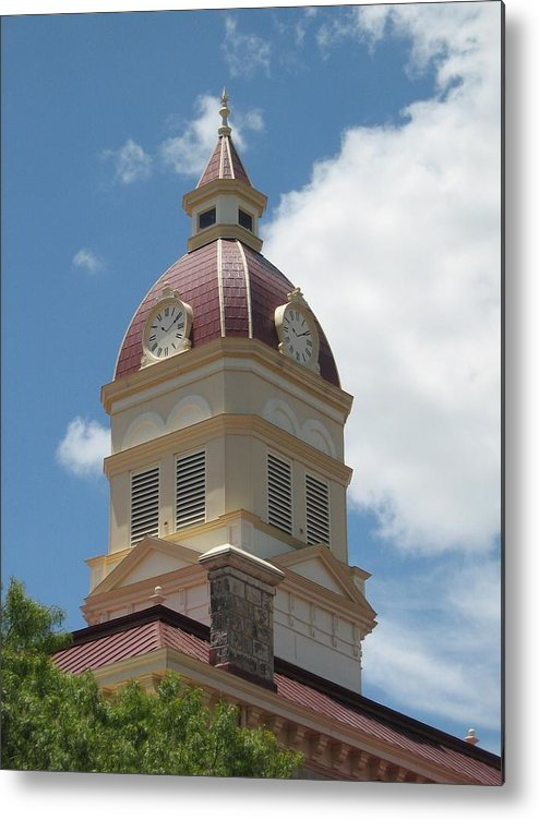 Clock Metal Print featuring the photograph Clock Tower by Rebecca Shupp