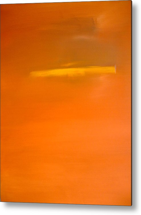 Abstract Metal Print featuring the painting Clockwork Orange by Stefan Fiedorowicz