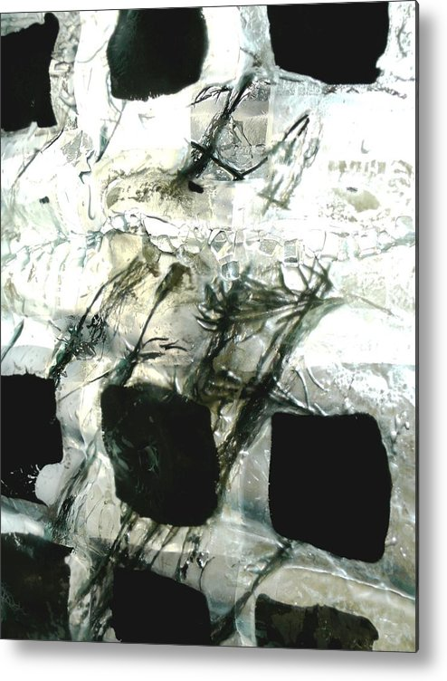 Newspaper Metal Print featuring the sculpture Close Up Of Panel 6 The Forth River by Sarah King