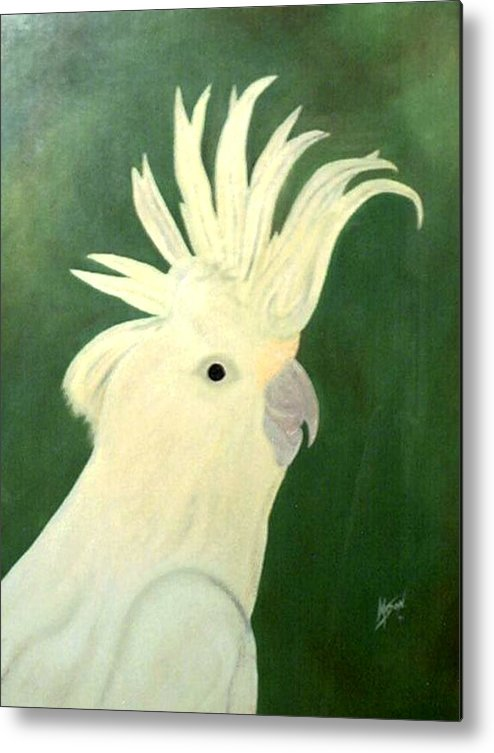 Bird Metal Print featuring the painting Cockatoo by Guillermo Mason