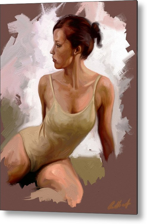Figurative Metal Print featuring the digital art Colour Study 1 by Stuart Gilbert