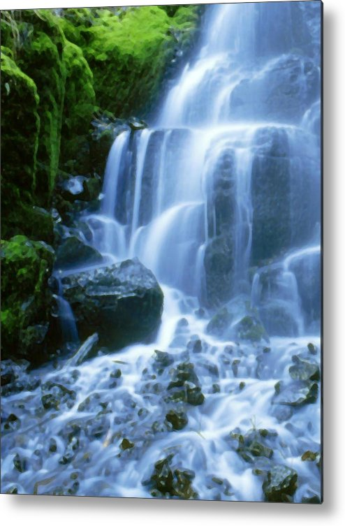 Landscape Metal Print featuring the photograph Columbia River by Vicky Brago-Mitchell