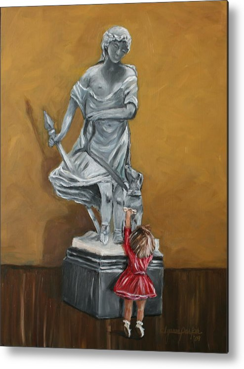 Woman Metal Print featuring the painting Companions Of Diana by Dyanne Parker