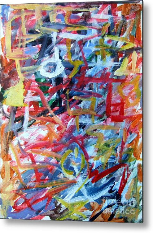 Abstract Metal Print featuring the painting Composition No. 11 by Michael Henderson