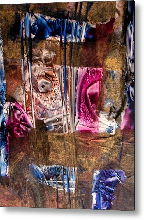 Abstract Metal Print featuring the painting Confined by John Vandebrooke