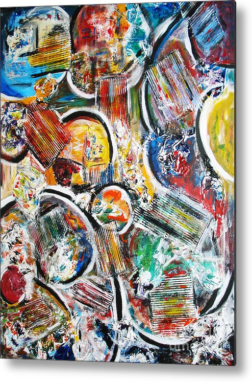 Acrylic Painting Metal Print featuring the painting Connection by Yael VanGruber