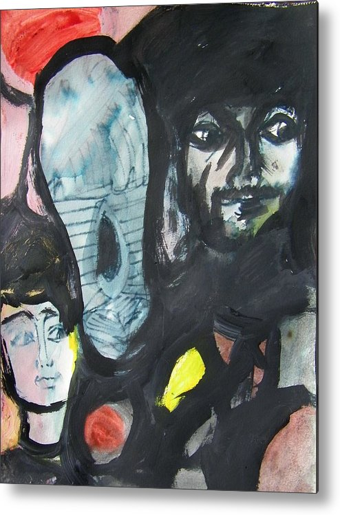 Abstract Metal Print featuring the painting Da Foot by Judith Redman