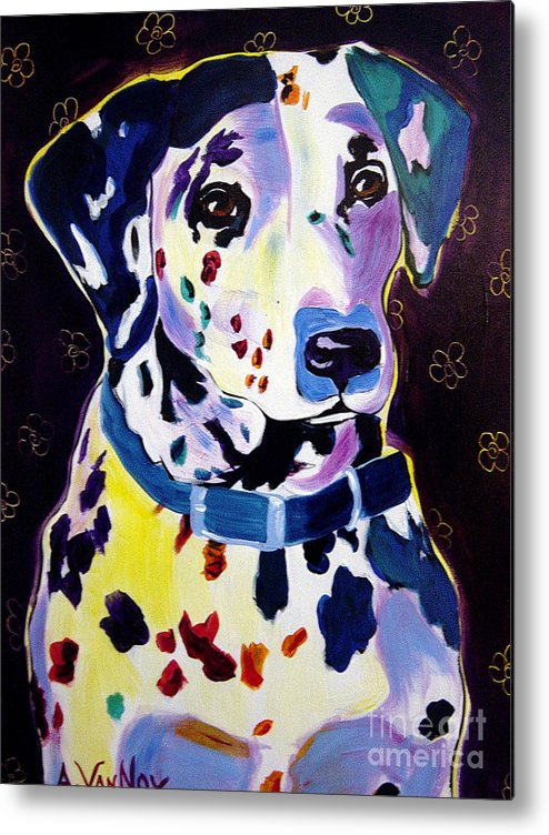 Dog Metal Print featuring the painting Dalmatian - Dottie by Alicia VanNoy Call