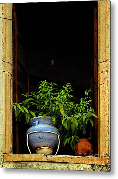 Darian Day Metal Print featuring the photograph Darkened Window by Mexicolors Art Photography