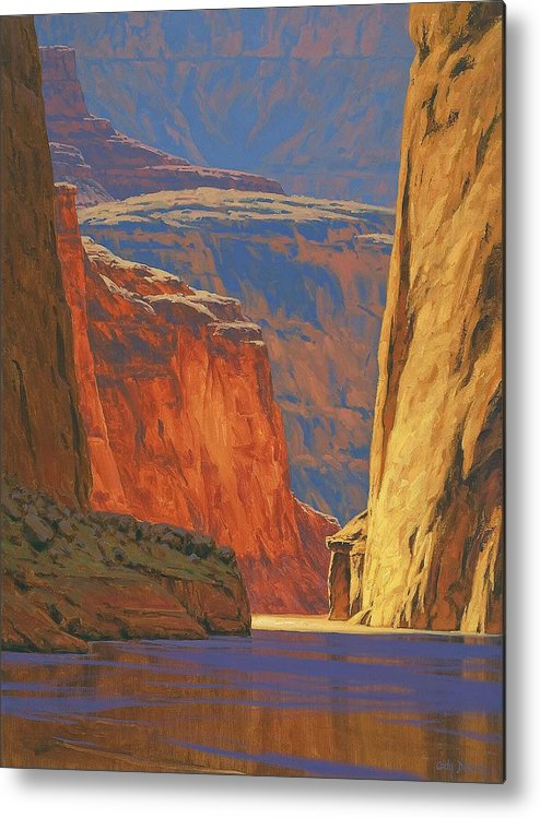 Grand Canyon Metal Print featuring the painting Deep In The Canyon by Cody DeLong