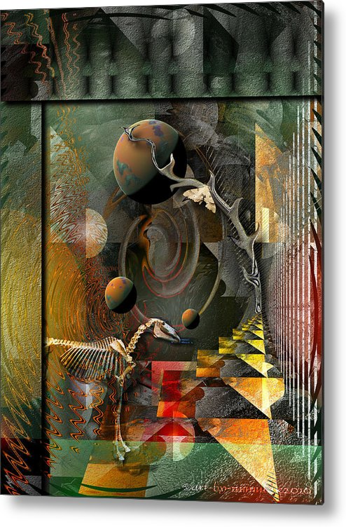 Psychology Metal Print featuring the digital art Deep Soul Journey by Mimulux patricia no No