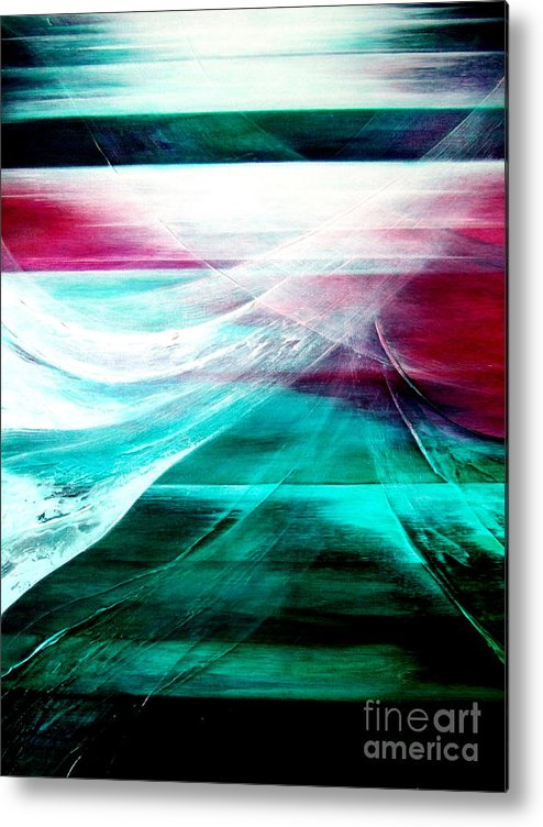 Departure Metal Print featuring the painting Departure by Kumiko Mayer