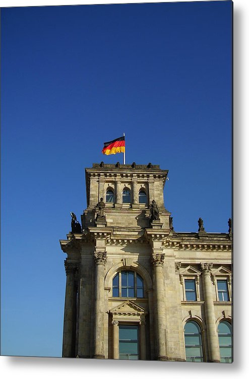 Deutscher Bundestag Metal Print featuring the photograph Deutscher Bundestag II by Flavia Westerwelle