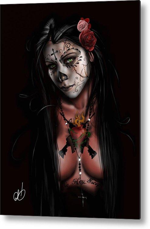 Pete Metal Print featuring the painting Dia De Los Muertos 3 by Pete Tapang