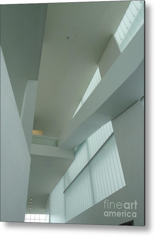 Architecture Metal Print featuring the photograph Diagonal Perspective by Donna McLarty