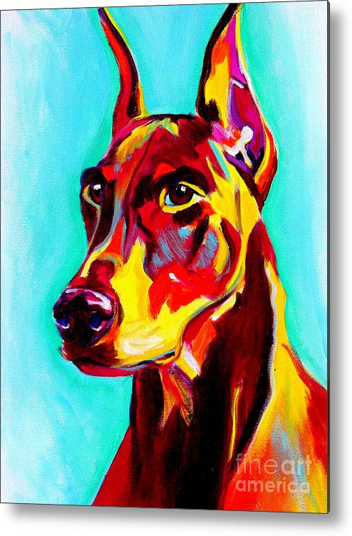 Dog Metal Print featuring the painting Doberman - Prince by Alicia VanNoy Call