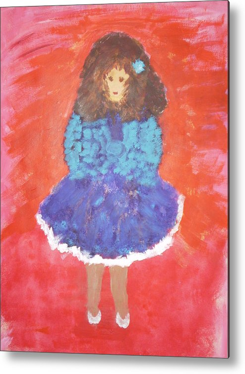 Dolls Metal Print featuring the painting Dolly by Gullan Grafstrom