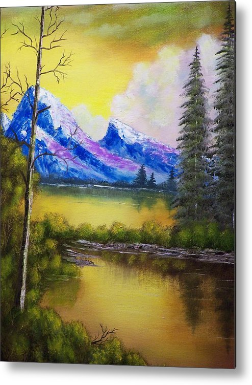 Landscape Metal Print featuring the painting Dreaming In Color by Charles Vaughn