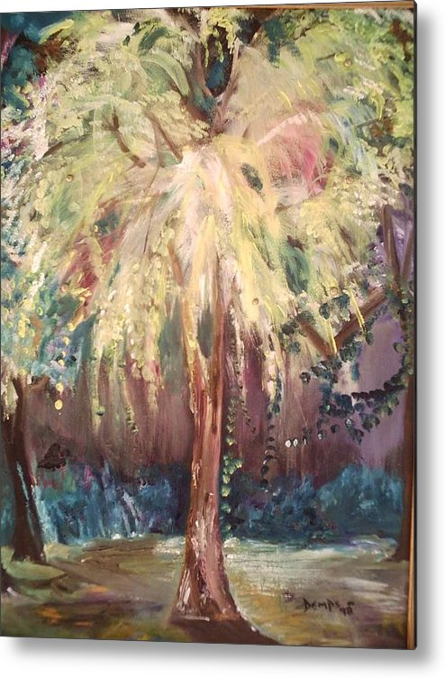 Landscape Metal Print featuring the painting Eden In The Evening by Impressionist FineArtist Tucker Demps Collection