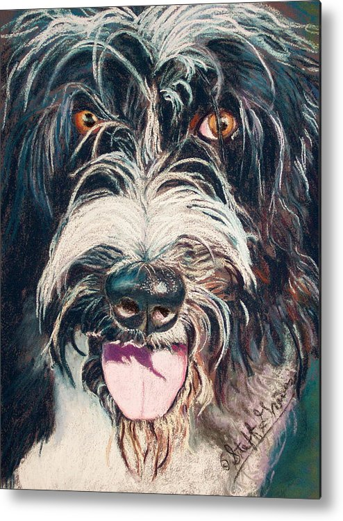 Dog Metal Print featuring the painting Elijah by Stephanie Grimes