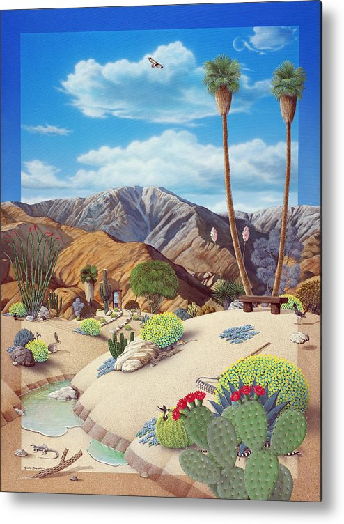 Desert Metal Print featuring the painting Enchanted Desert by Snake Jagger