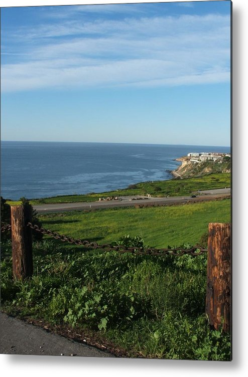 Ocean Metal Print featuring the photograph Enjoying The View by Shari Chavira