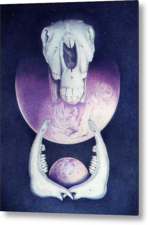 Mythology Metal Print featuring the painting Epona Goddess Of Fertility by Bonnie Haversat
