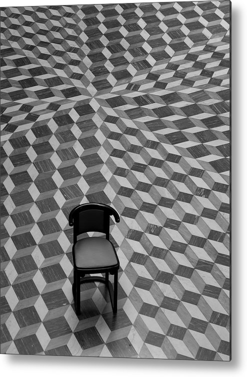 Chair Metal Print featuring the photograph Escher-like Chair by Jim DeLillo