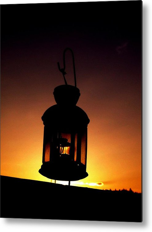 Lantern Metal Print featuring the photograph Evening Lantern by Tim Allen