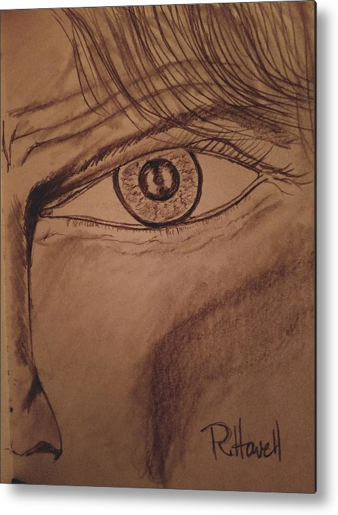Eye Metal Print featuring the drawing Evil Eye by Richard Howell