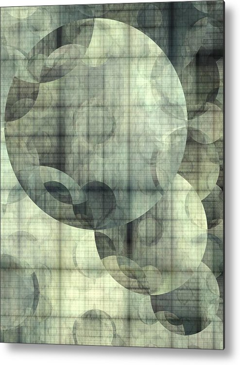 Abstract Metal Print featuring the digital art Expansion by Ian Duncan Anderson