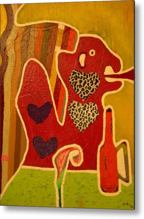 Abstract Metal Print featuring the painting Fashion Monster by Heinrich Haasbroek
