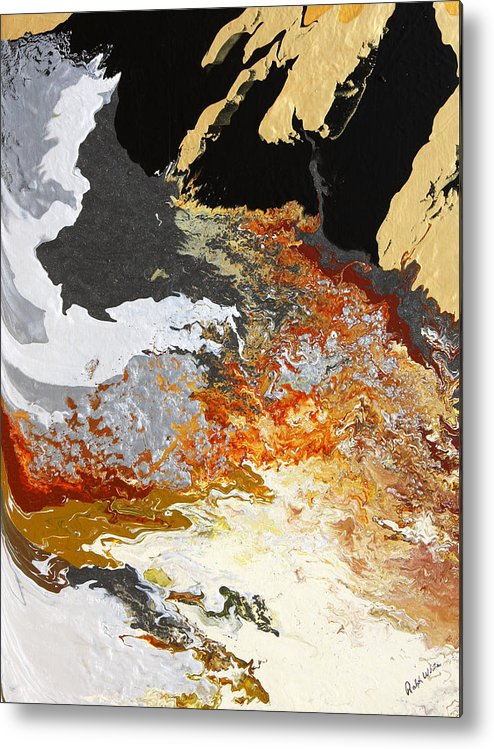 Fusionart Metal Print featuring the painting Fathom by Ralph White