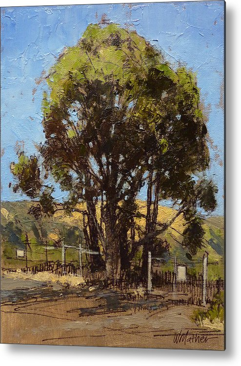 Sunlit Tree Metal Print featuring the painting Ferry Point by Bill Mather