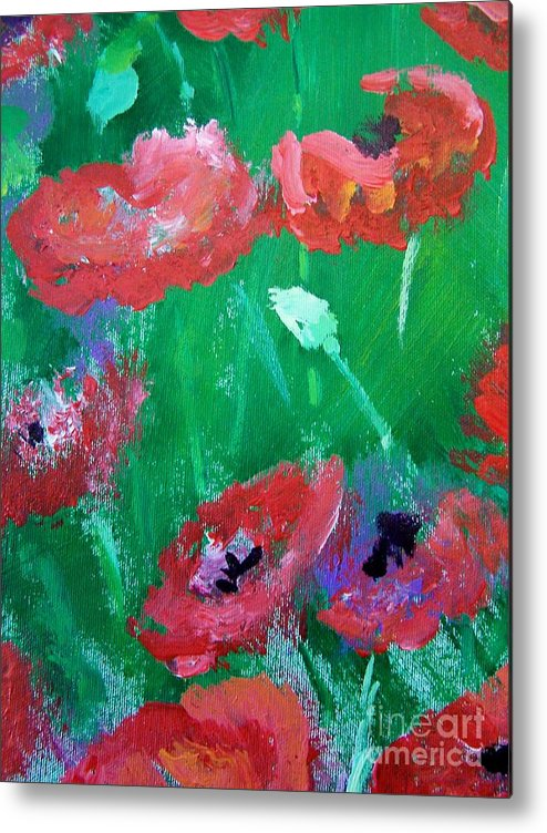 Metal Print featuring the print Field Of Red 2 by Geraldine Liquidano