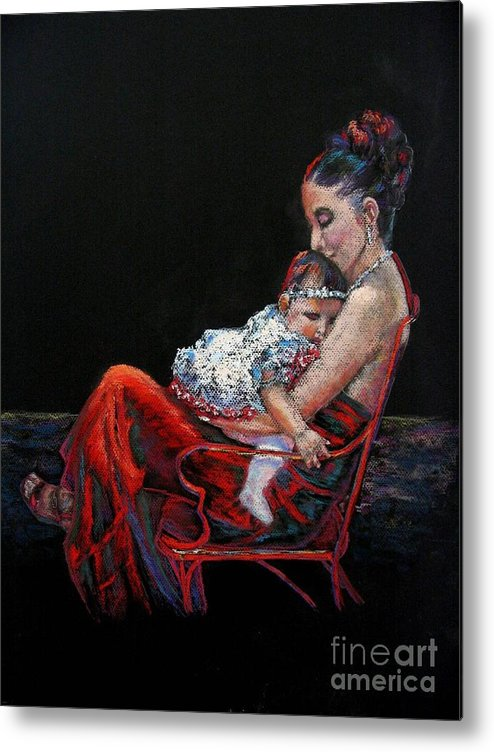 Mother Metal Print featuring the painting Fiesta Siesta by Shirley Leswick