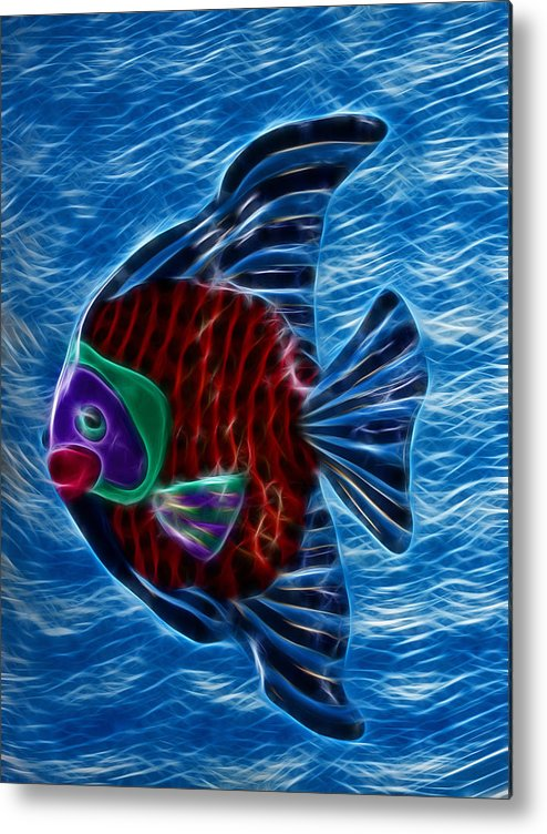 Fish Metal Print featuring the photograph Fish In Water by Shane Bechler