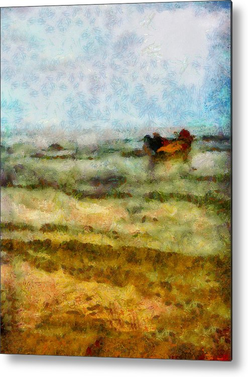 Abstract Metal Print featuring the photograph Fishing Boat by Galeria Trompiz